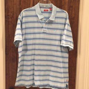 Izod light blue striped polo XL